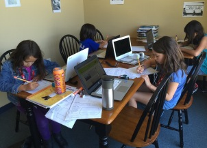 SLP 2016 students learn math with technology; photo release on file