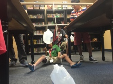 SLP 2016 students hands-on force and motion lesson; photo release on file