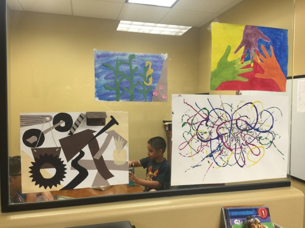 SLP 2016 student(s) S.T.E.A.M. inspired artwork; photo release on file